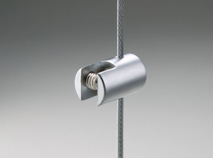 Small cable clamp single sided